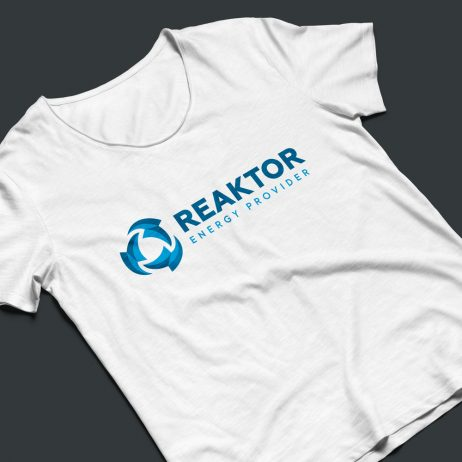 reaktor logo t-shirt mock-up