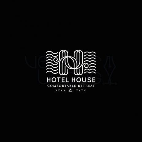 hotel house logo invert