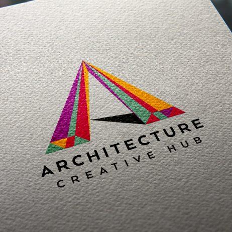 architecture logo design business card mock-up