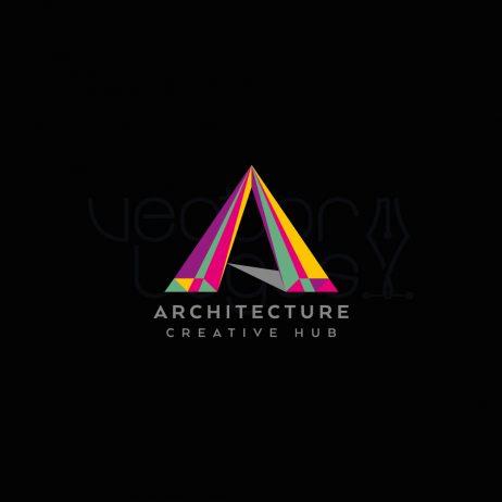architecture logo design dark background