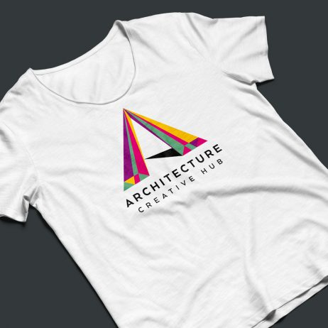 architecture logo design t-shirt mock-up