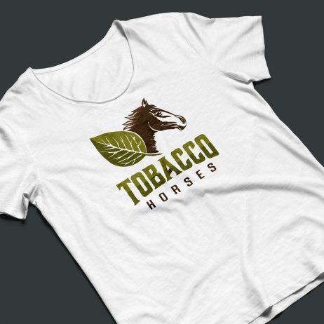 tobacco horses logo t-shirt mock-up