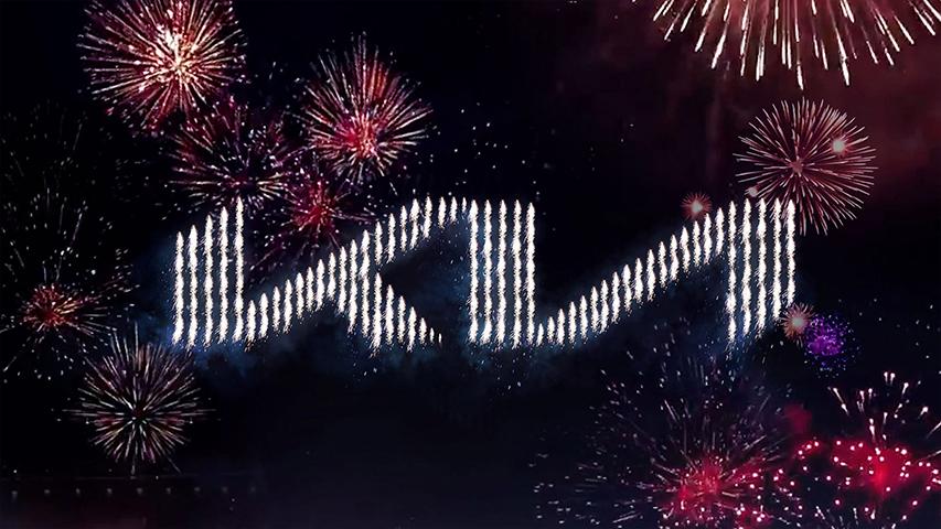 kia 2021 drone fireworks