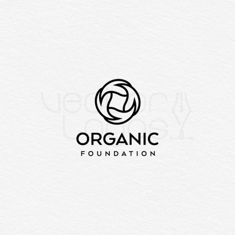 organic foundation logo black