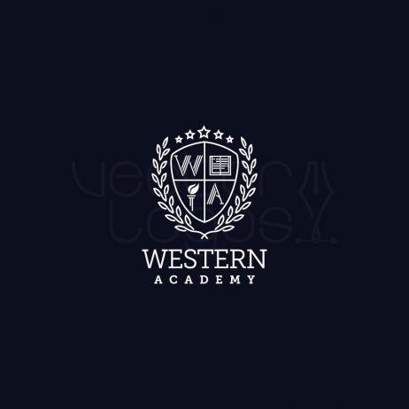 Western Academy logo invert