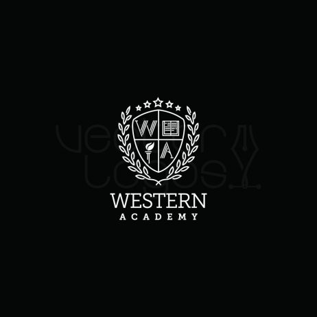 Western Academy logo white