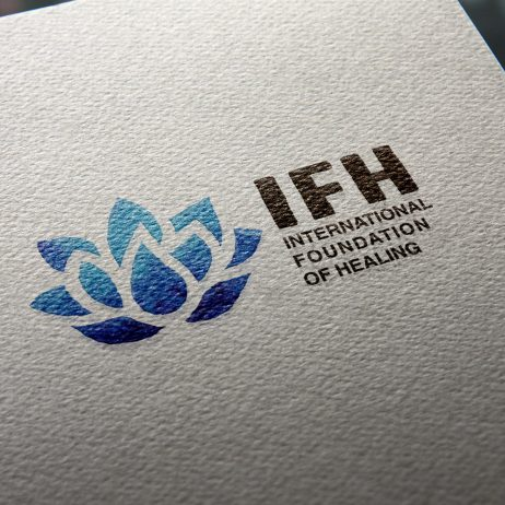 healing foundation logo business card mock-up