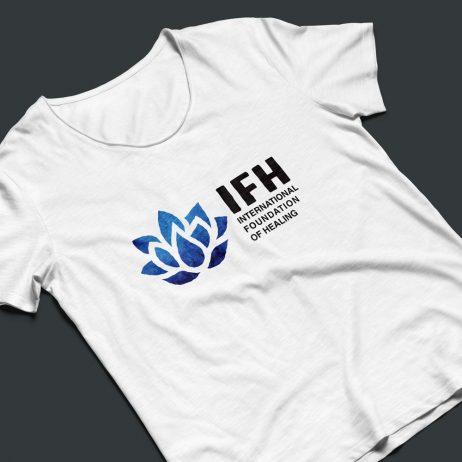 healing foundation logo t-shirt mock-up