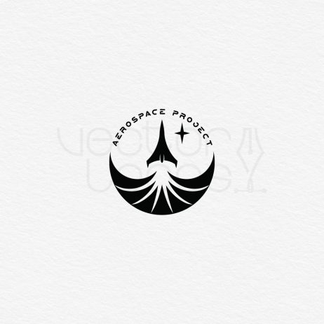 aerospace project logo black