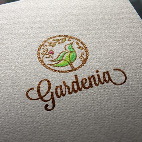 gardenia logo business card mock-up