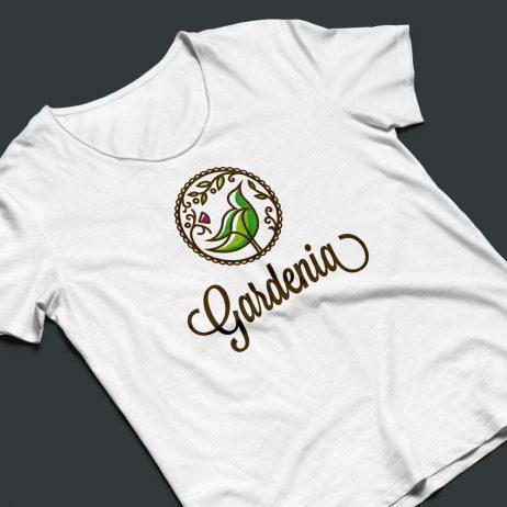 gardenia logo t-shirt mock-up