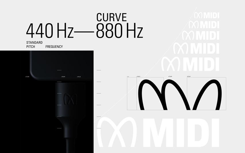 MIDI logo by Pentagram