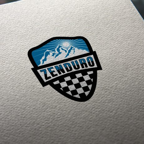 zenduro logo business card mock-up
