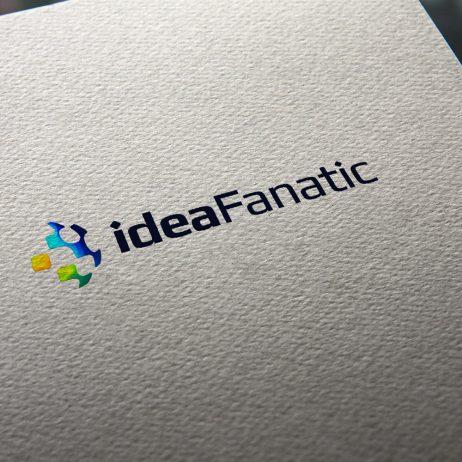 ideaFanatic logo business card mock-up