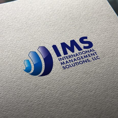 ims logo business card mock-up