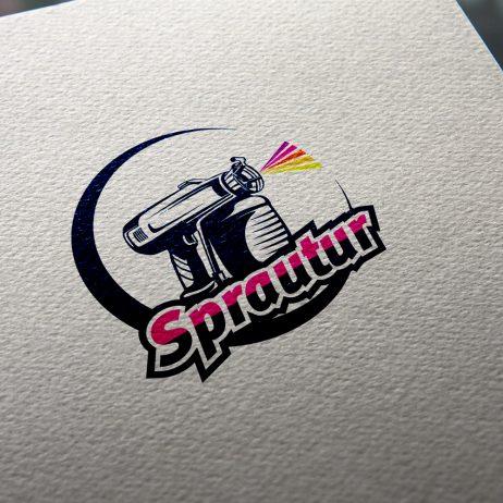 sprautur logo business card mock-up