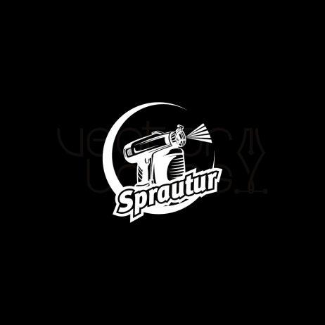 sprautur logo invert
