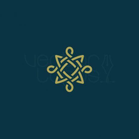 celtic knot icon invert