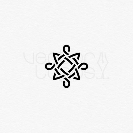celtic knot icon black