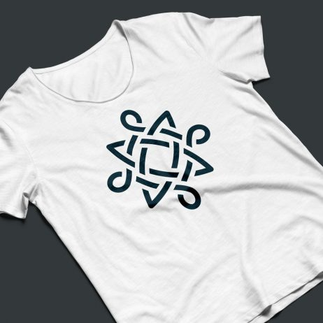 celtic knot icon t-shirt mock-up