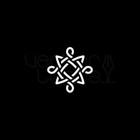 celtic knot icon white
