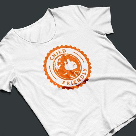child friendly logo t-shirt mock-up