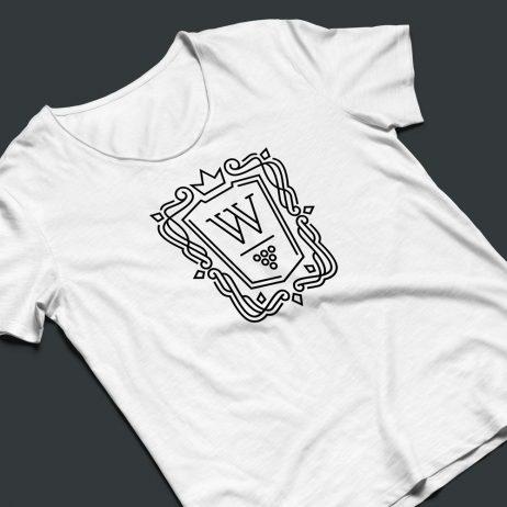 wine cellar logo t-shirt mock-up