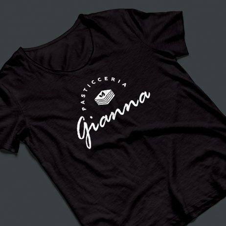 gianna pasticceria logo t-shirt mock-up