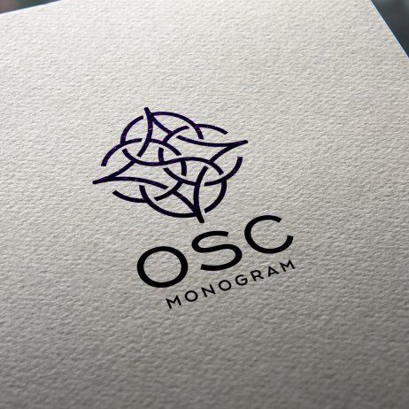 osc logo business card mock-up