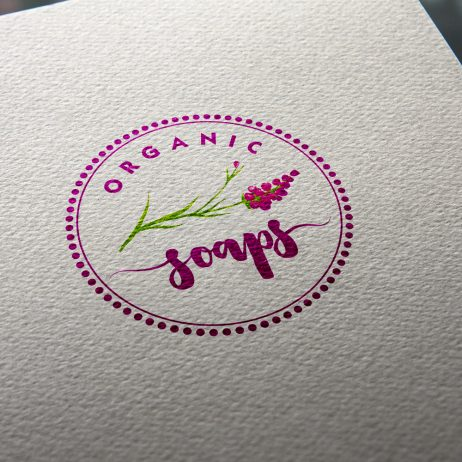 organic soaps logo business card logo
