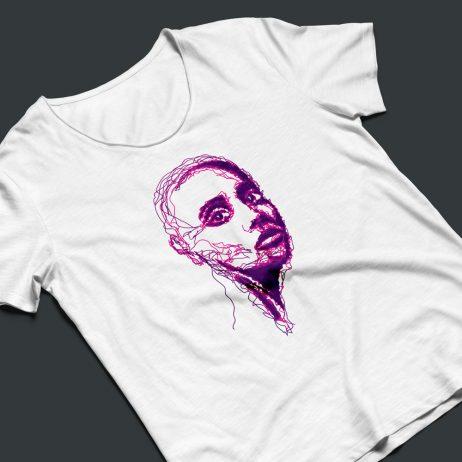 skin dermatology illustration t-shirt mock-up