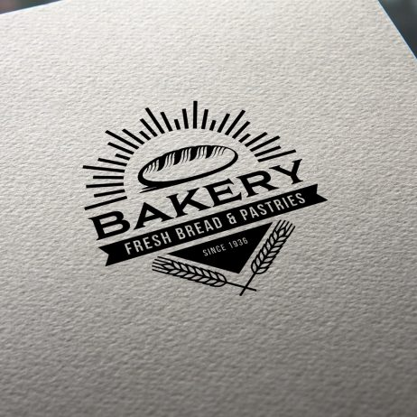 bakery logo business card mock-up
