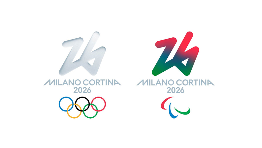 milano cortina winter olimpics 2026 logo both
