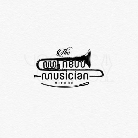 new musician logo black