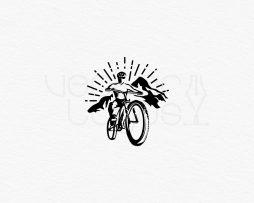mountain biking logo