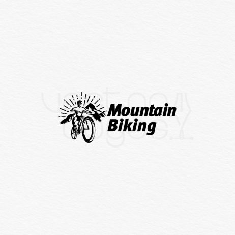 mountain biking logo design