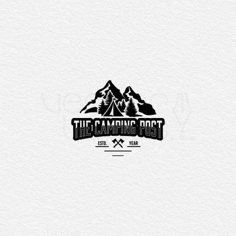 camping post logo black