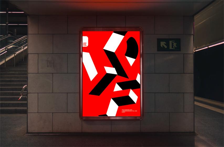 London Design Festival identity underground