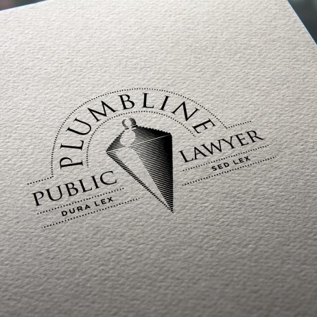 public lawyer logo business card mock-up