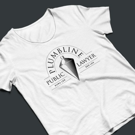 public lawyer logo t-shirt mock-up