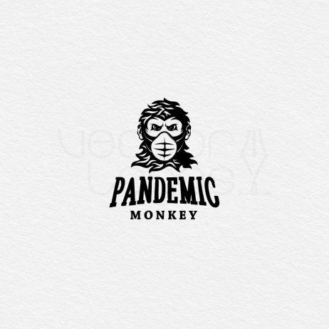 pandemic monkey logo black