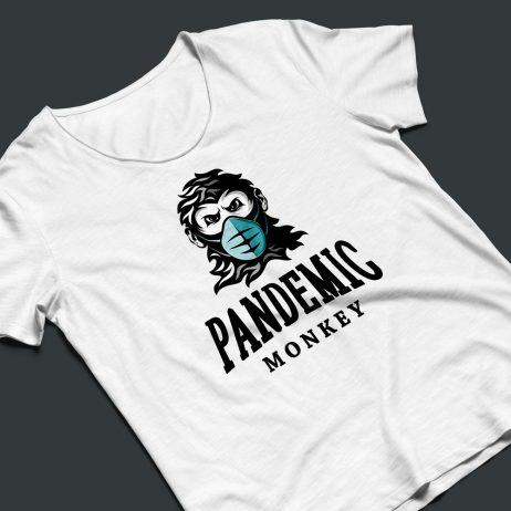 pandemic monkey logo t-shirt mock-up