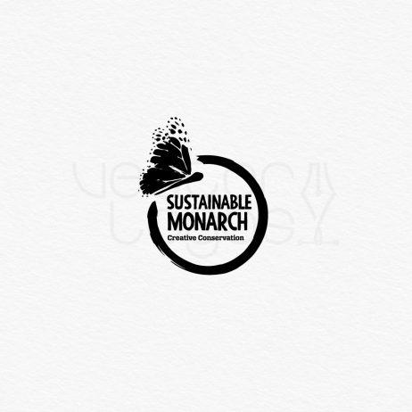 sustainable monarch logo black